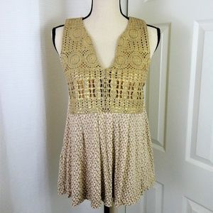 Tiny {Anthropology} Ardita Crochet Tank Size XS